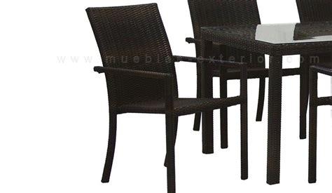 sillas de jard n sillas y mesas rattan chocolate