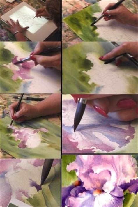 watercolor tutorial iris painting iris watercolor dvd learn to paint iris with