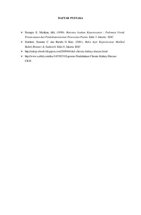 makalah rencana format pendokumentasian makalah gagal ginjal kronik