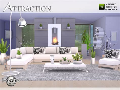 4 l set jomsims attraction living room