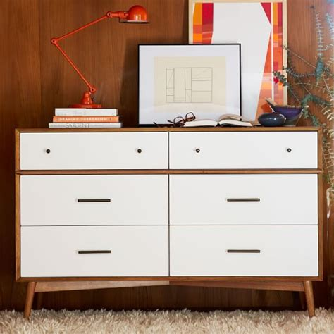 mid century chest of drawers white the lovely side to paint or not to paint my mid century