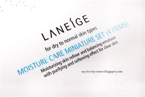 Harga Laneige Moisture Care Miniature Set my lovely a with review laneige