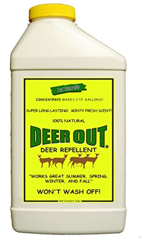 deer out 32oz concentrate deer repellent pest repellents patio and furniture