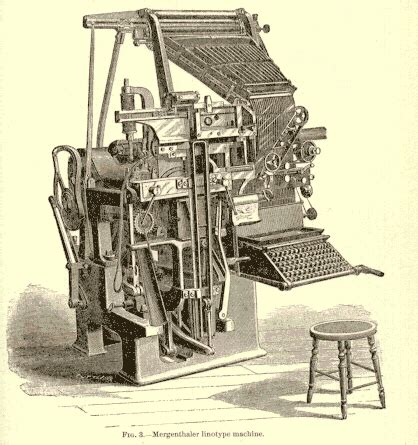the invention of the linotype machine (jienne alhaideri