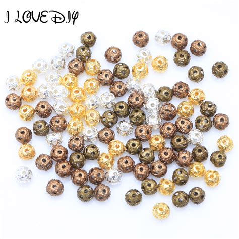 how big is 4mm bead 500pcs lot spance style metal for jewelry