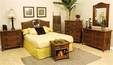 cancun palm 4 pc bedroom set in tc antique finish
