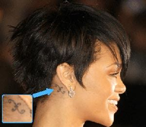 neymar tattoo behind ear rihanna s body tattoos celebrity tattoo designs