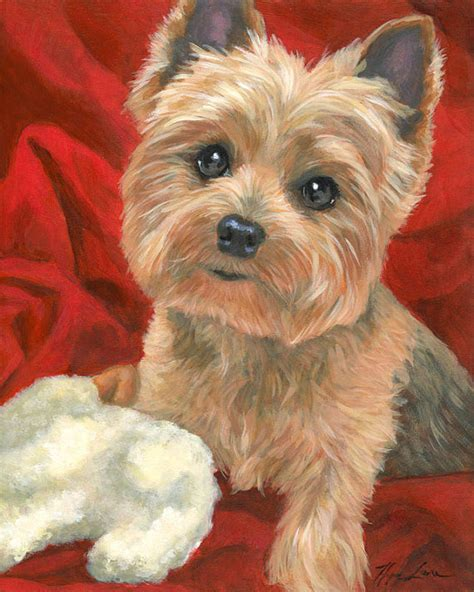 one yorki alive yorkie custom pet portrait terrier painting