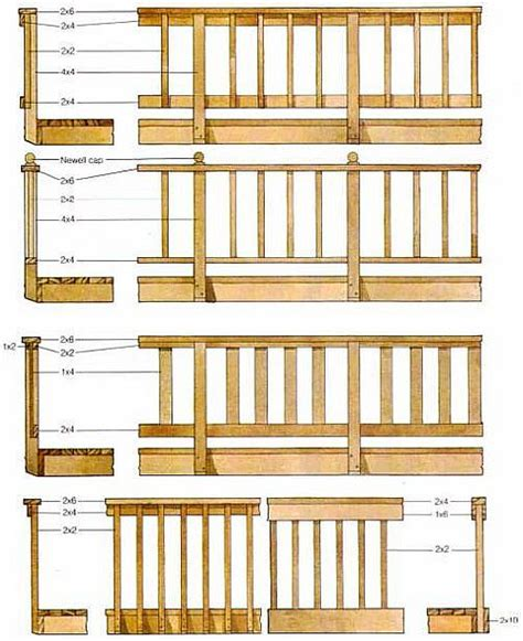 deck railing sections deck railing designs wood deck railing designs to match