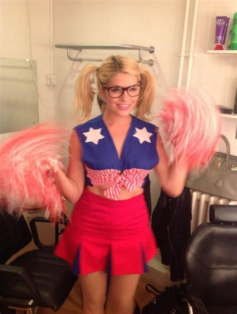 celebrity juice how many series holly willoughby has specs appeal in cheerleader outfit on