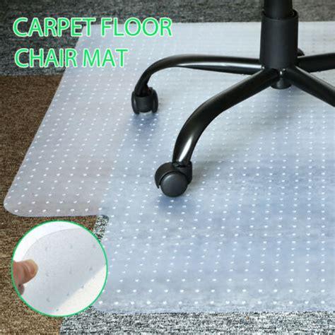 carpet floor office computer work chair mat pvc protector   mm ebay