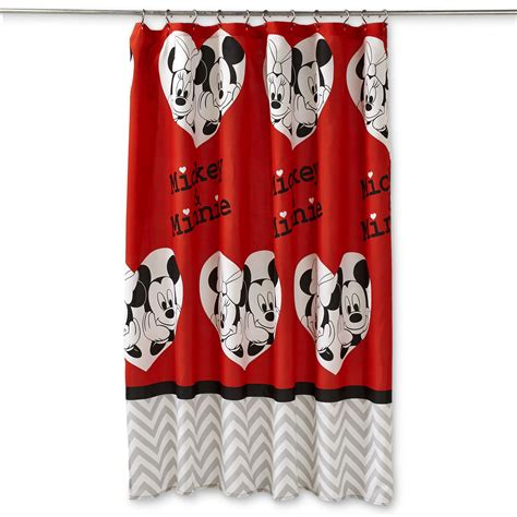 mickey and minnie window curtains disney mickey minnie mouse fabric shower curtain home