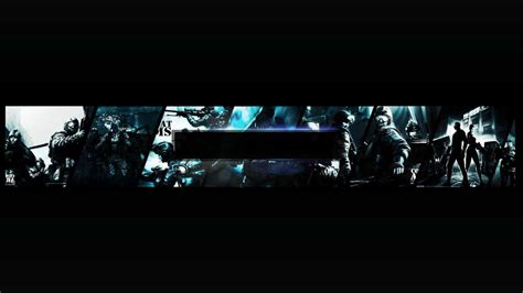 Combat Arms Channel Art And Thumbnails Templates Youtube Banner Template No Text
