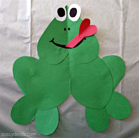frog craft for paper frog craft for crafty morning