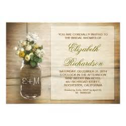 rustic wedding shower invitations country rustic jar bridal shower invitations 5 quot x 7