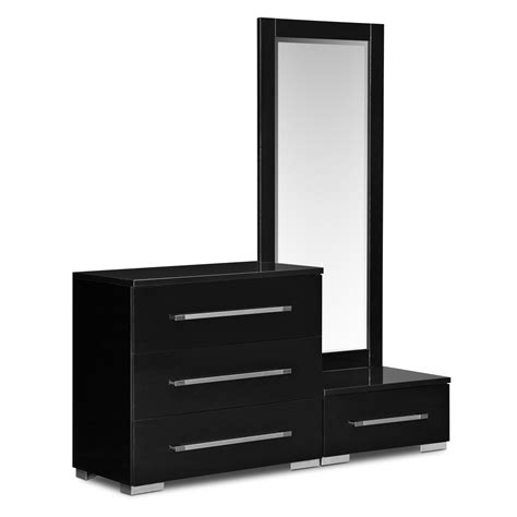 bedroom dressers with mirror dimora dressing dresser and mirror with step black
