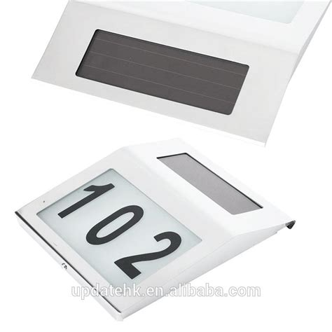 solar powered house address light with numbers buy solar