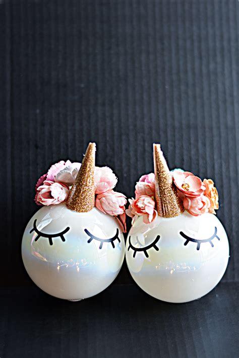 diy unicorn ornaments  inspiration