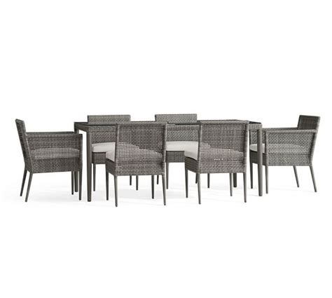 all weather wicker dining table and chairs cammeray all weather wicker rectangular dining table