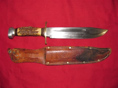 wildcat knives wildcat 8x 13 inch bowie knife stag leather sheath for