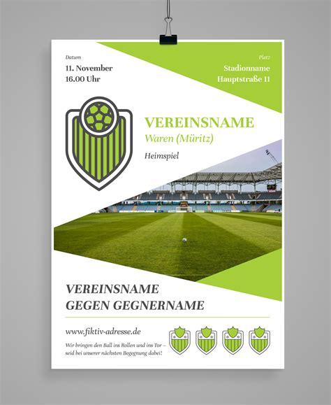 Indesign Vorlage Flyer design vorlagen f 252 r euren sportverein