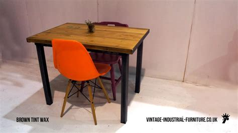 small industrial dining table stencilled vintage industrial dining table