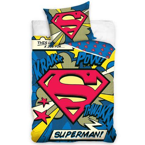 housse de couette superman officiel dc comics housse de couette ensembles
