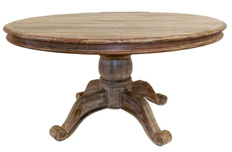 Rustic Round Dining Room Tables | hton distressed wood round dining table