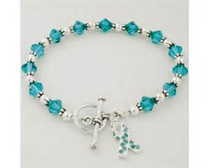 Swarovski Crystal Home Decor Ovarian Cancer Awareness Swarovski Crystal Beaded Bracelet