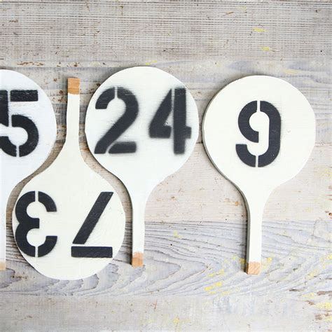 Vintage Auction Paddle Vintage Number Sign 80 Auction Paddle Number Template