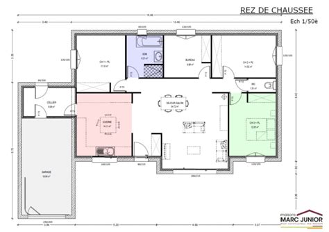 Exemple De Plan De Maison 3334 by Exemple Plan De Maison Plain Pied Mc Immo