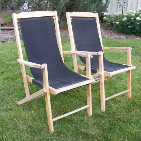 wooden sling chair vintage sling chair wooden folding chair canvas sling deck