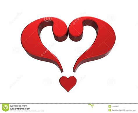Or Question For Lover Cuore 1 Punto Interrogativo Fotografia Stock Immagine 24525952