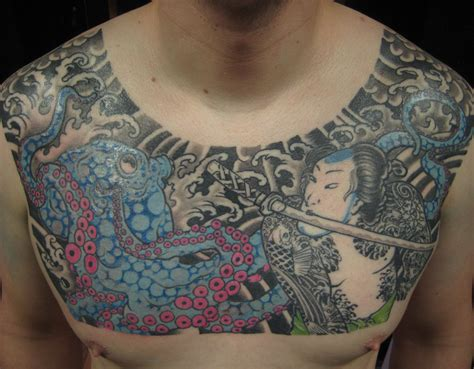 japanese chest tattoos for men top chest designs project 4 gallery