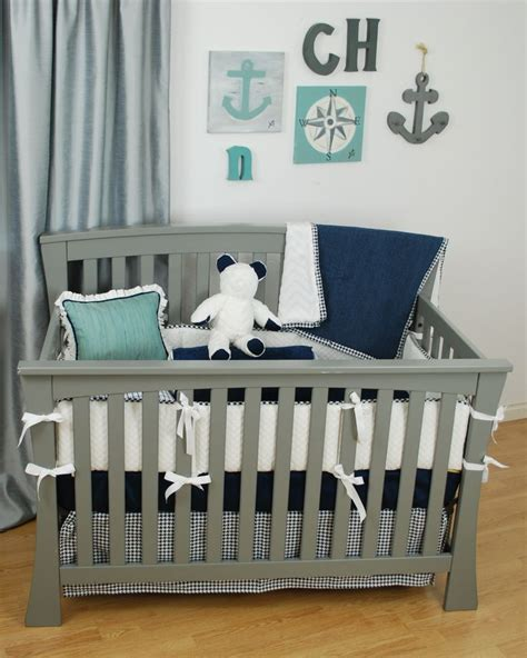 White And Navy Crib Bedding Best 25 White Crib Bedding Ideas On Nursery Bedding Baby Bedding And Boy