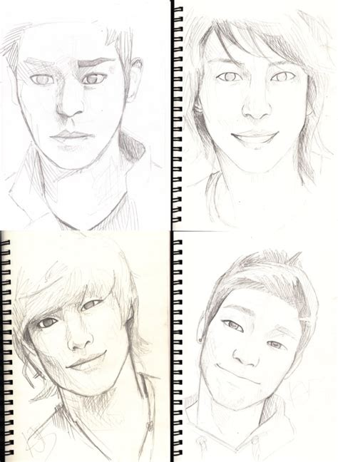 Kpop Sketches by Kpop Drawings By Threatened On Deviantart