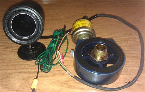 fs prosport oil pressure gauge kit wadapter sandwich
