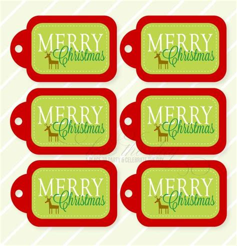 merry christmas printable gift tags  love  day etsy