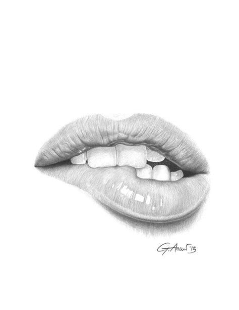desiderio desire lip bite mouth art print by giorgio