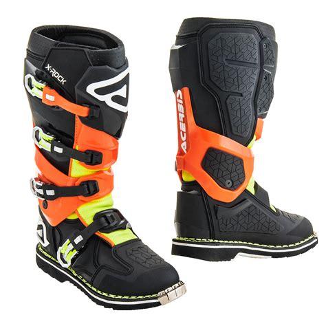 acerbis boots motocross acerbis mx boots x rock black fluo orange 2018 maciag