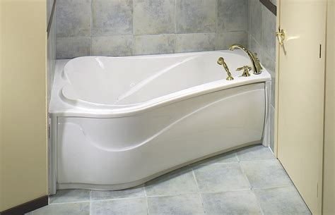 corner soaking tub for small bathroom space with unique