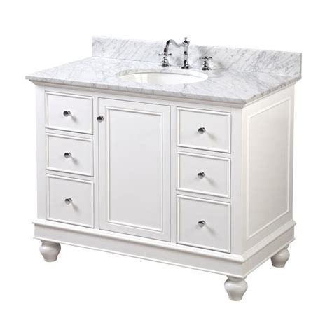 bella 42inch vanity carrarawhite � kitchenbathcollection