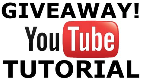 How To Do A Giveaway On Youtube - youtube how giveaways should be done youtube