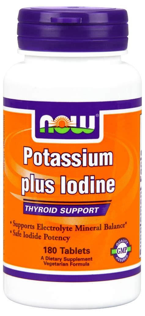 Doses Of Potassium Iodide For Metal Detox by Now Foods Potassium Plus Iodine 180 Tabs Ebay