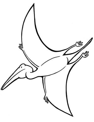 pterodactyl coloring page | free printable coloring pages