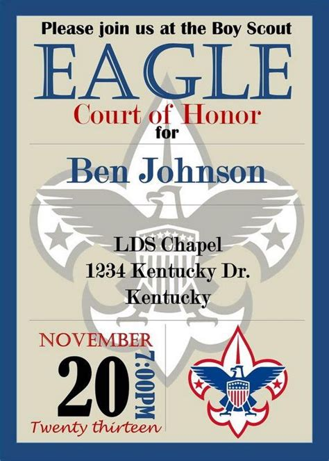 templates for eagle scout invitations 10 cool eagle scout invitations invitation templates