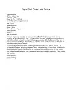 Clerk Cover Letter by Payroll Clerk Cover Letter Sle 424x550 Jpg 424 215 550 Business Accounting
