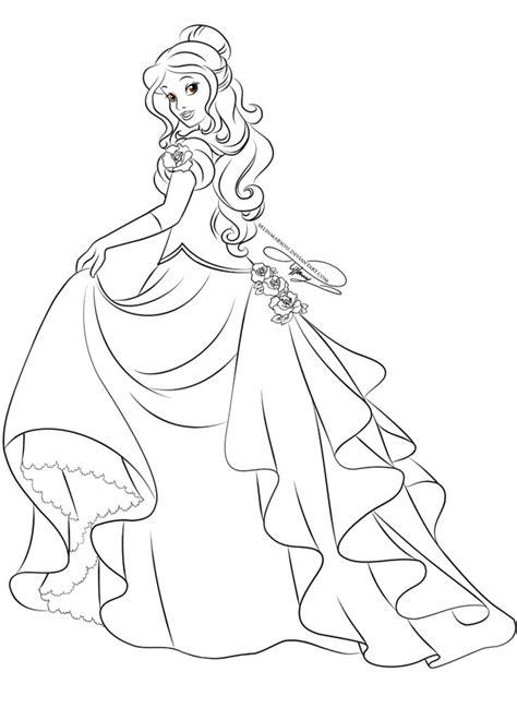 lineart glamorous fashion belle  selinmarsou