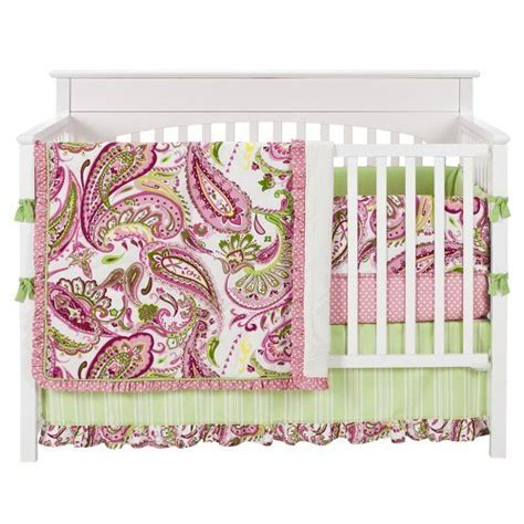 Paisley Baby Crib Bedding Baby Comforter Sets Promotion Sales Promotion On Products Paisley Splash In Pink 4pc Crib