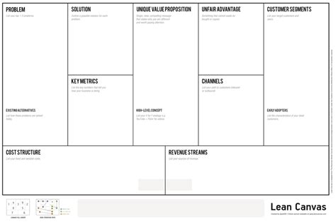 lean startup business plan template lean canvas the 1 page business model storywork